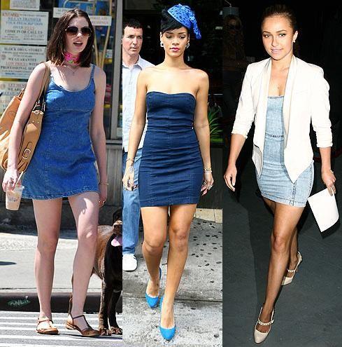 Vestidos de Jean a la Moda. Vestidos de Jean a la Moda El denim se ha convertido en una gran tendencia de la moda actualidad. No solo en jeans sino que también en faldas, camisas y ha