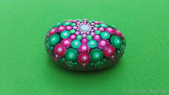 Garten &Haus Dekoration, wunderschönes Geschenk, Mandala Steine für Meditation & Joga. ab 5,50 €