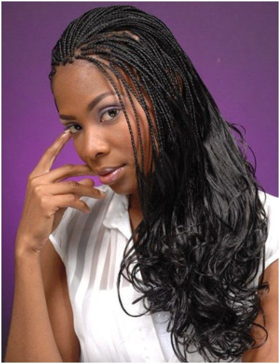 #Hair #Braid Micro braids twisted hairstyles click for info.