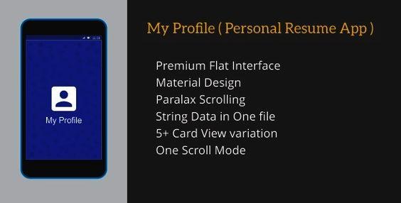 My Profile ( Personal Resume App )  POPULAR ITEMS Web Design - resume app