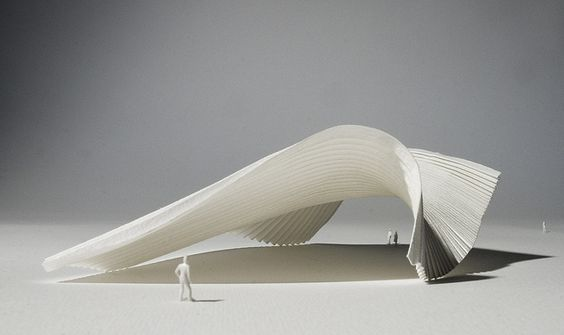Architectural Model I by Richard Sweeney, via Flickr - made of folded paper