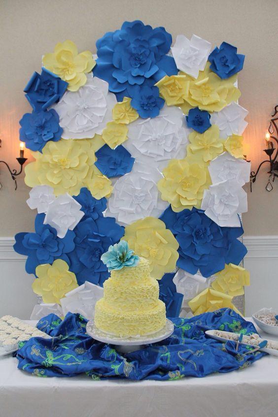 Back drop at Hannah's graduation party and cake