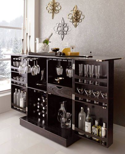 New Steamer Folding Wine Liquor Bar Cabinet in Black | eBay