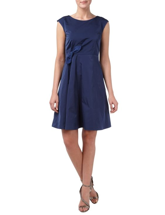 WEEKEND-MAX-MARA Kleid mit Drapierung und Schleifen-Applikation in Blau / Türkis…