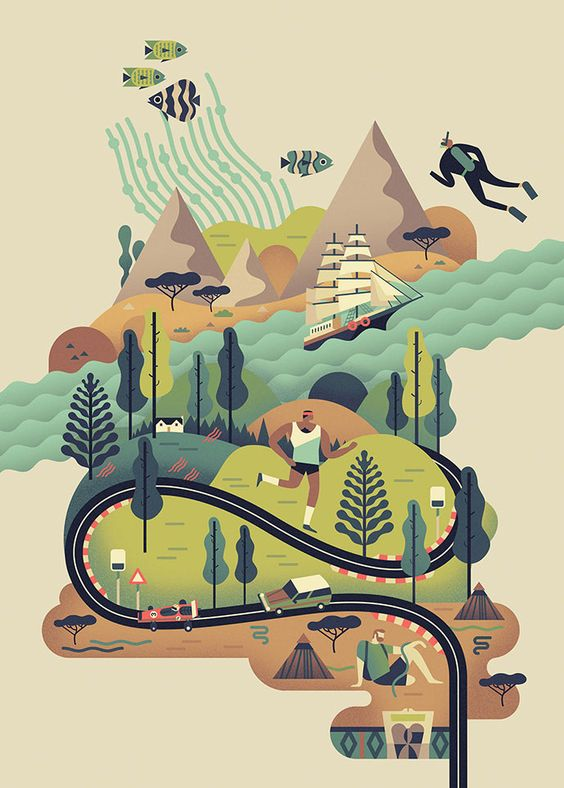 Les illustrations vectorielles colorées d'Owen Davey