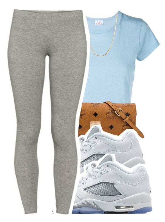 """6/30/16"" by lookatimani ❤ liked on Polyvore featuring RE/DONE, MCM, Jordan Brand, Giani Bernini and TNA"