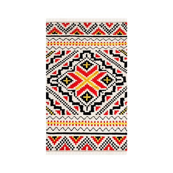 Such a display of fabulous bright colors can't go to waste. You'll want to bring home this exceptional Montezuma Wool Rug, a work of true artisan excellence that will add brightness and beauty to your casa. http://dotandbo.com/category/decor-and-pillows/rugs/textile?utm_source=pinterest&utm_medium=organic&db_sku=P35200