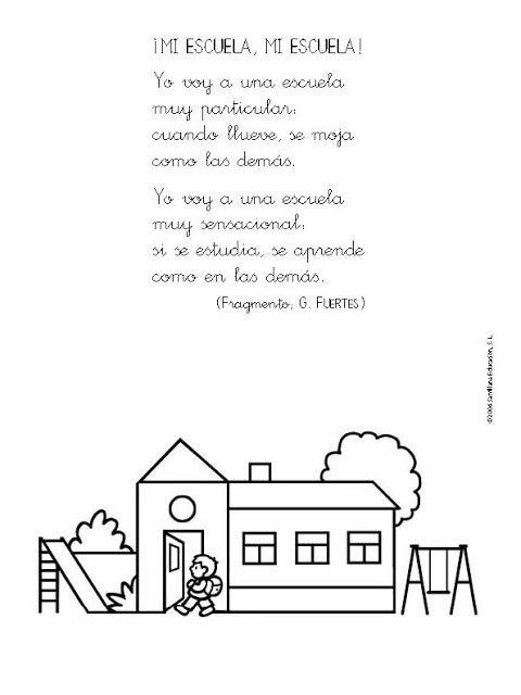 Poesias De Gloria Fuertes Poesia Al Colegio Poema A Mi Escuela Poemas Cortos Para Ninos