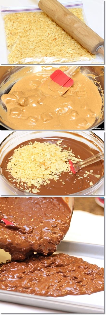 Chocolate crack, Chocolate and Potato chips on Pinterest