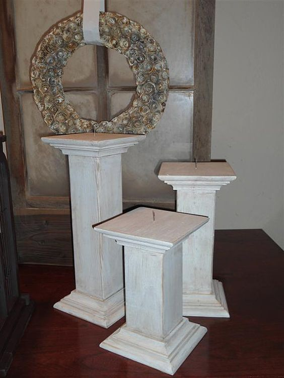 Large wooden candle holders wonder if we could make for Wooden candlesticks for crafts