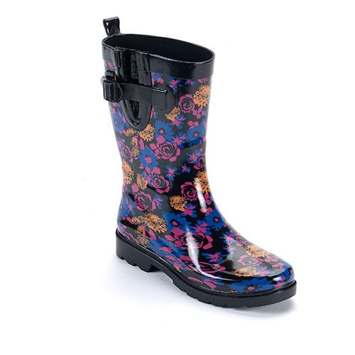Capelli Short Black Combo Rain Boots