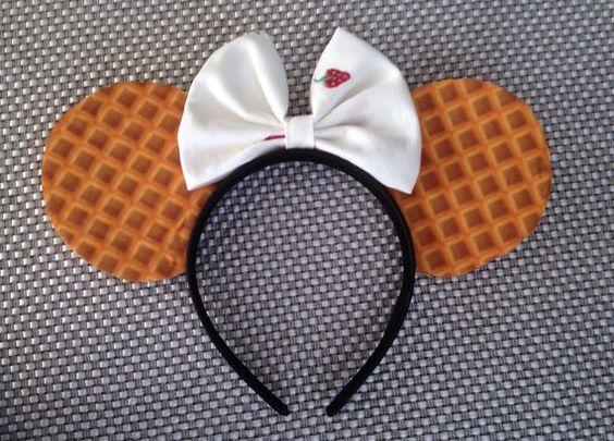 Wafflle's Inspired! Minnie Mouse DisneyEars Source Etsy by ThePrincessClub55 #Waffles #Disney #Disneyland #DisneyWorld #WDW #Custom #Handmade #DIY #DiyMouseEars #MouseEars #WeGotEars #DisneyEars #DisneyHeadband #MinnieEars #MinnieMouseEars #MinnieMouse #MickeyMouse #MickeyEars #MickeyMouseEars