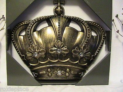 """Queen Crown Gold Wall Decor 12"""" Girls Room Princess Wall Crown with Gems Plaque - BUY NOW ONLY 8.99"""