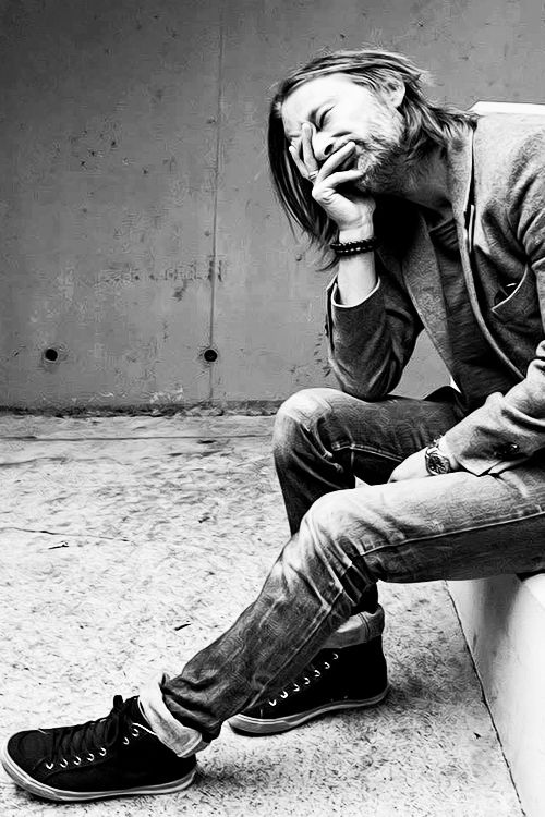'I wish to age disgracefully.' - Thom Yorke. Little bit unfashionable to like Radiohead these days, for some unfathomable reason, but I love them. Thom Yorke is the spokesman for neurotics and paranoid people of planet Earth.