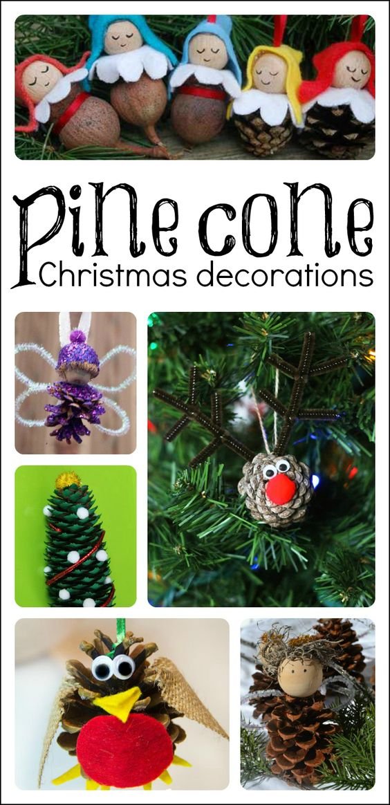 Pinterest the world s catalogue of ideas for Pine cone christmas ornaments for kids