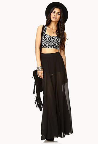 Breezy Chiffon Maxi Skirt | FOREVER 21 - 2000109971