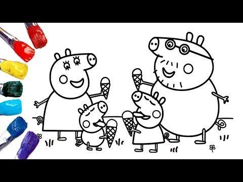 Dibujos Para Colorear Peppa Pig Coloring Peppa Pig With Ice Cream Peppa Pig Coloring Pages Youtu Peppa Pig Coloring Pages Coloring Pages Coloring Books