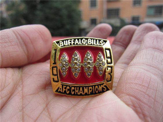 NFL 1993 Buffalo Bills American Football Super Bowl Championship Ring