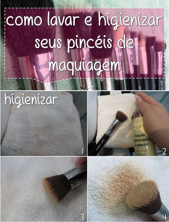 Como higienizar seus pincéis de maquiagem Link pro post; http://blahblog.com.br/como-higienizar-e-lavar-seus-pinceis-de-maquiagem/