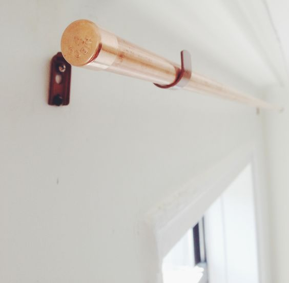 Curtains Ideas ceiling mount curtain brackets home depot : DIY Copper Pipe Curtain Rod and Bracket | Copper, Home and Curtain ...
