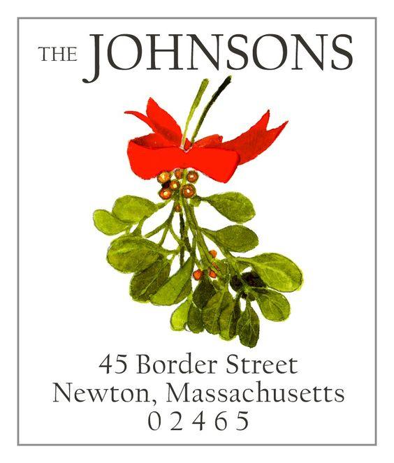 Mistletoe | Return Address Labels