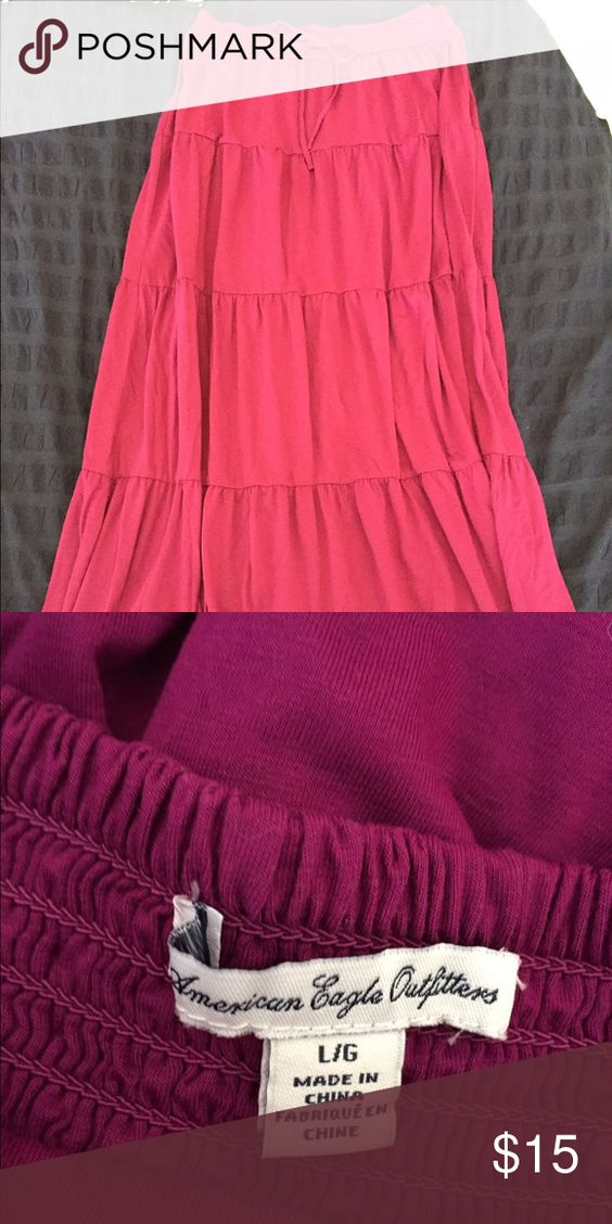 AEO maxi skirt 2nd pic is accurate color, long jersey knit maxi skirt, never worn American Eagle Outfitters Skirts Maxi