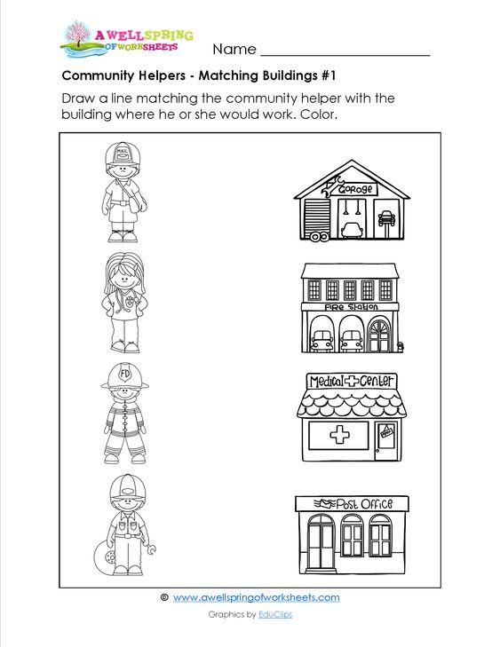 Jobs And Occupations Worksheet1 Community Helpers Worksheets Community Helpers Community Helpers Preschool