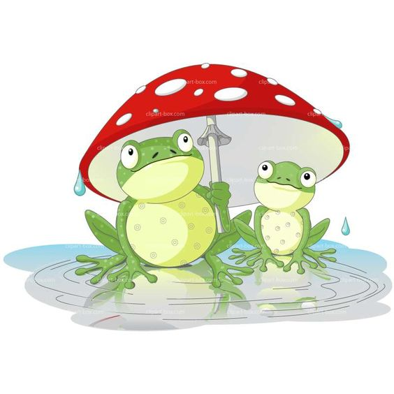 CLIPART FROG UMBRELLA | Royalty free vector design | картинки ...