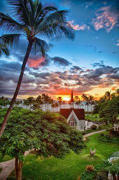 Sunset as seen from Grand Wailea Hotel, Maui