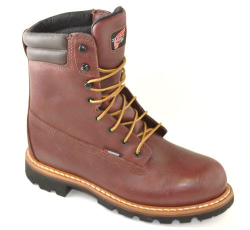 Mens Red Wing Work Boots Waterproof Vibram Sole Soft Toe #1202 ...