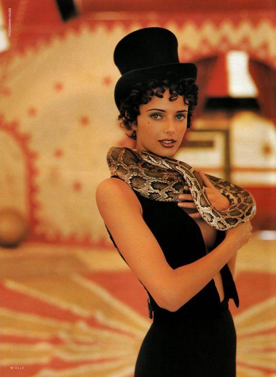Elle Germany I January 1993 I Models: Heather Stewart-Whyte…