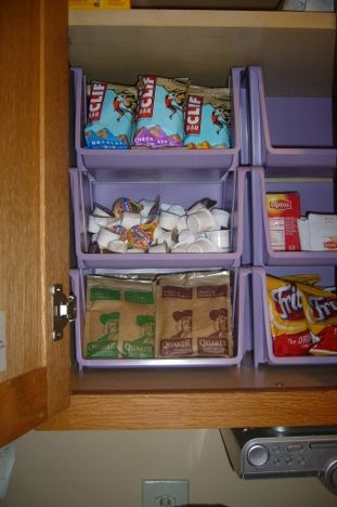 Organized Homemaking : Kitchen Cabinet Organzing with Containers - A Proverbs WifeA Proverbs Wife