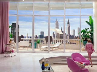 "Barbara Novak's Penthouse Apartment in ""Down With Love"":"
