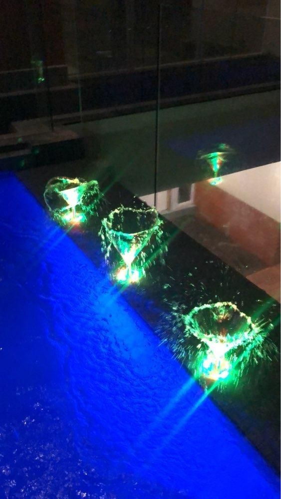 Ouya Led Store Aluminum Led Fountain Lamp Ip68 White Rgb Underwater Swimming Pool Light Ac Dc 12v 24v Pond De Swimming Pool Lights Pool Light Fountain Lights