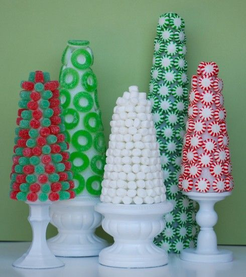 Candy trees - would make an awesome centrepiece