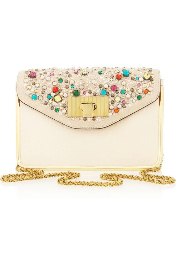 chloe inspired handbags - Classic Sparkle (Chlo�� | Sally Swarovski crystal textured-leather ...