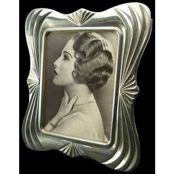 Art Deco Influenced 8 x 10 Silver Plated Vintage Photo Frame Blue... ($49) ❤ liked on Polyvore featuring home, home decor, frames, photo frame, vintage, blue frames, blue home decor, blue home accessories, blue picture frames and silver plated frames