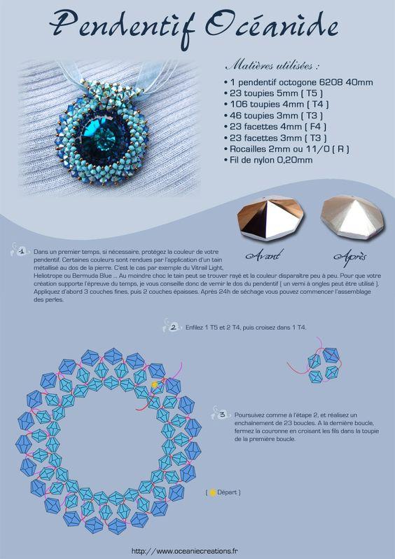 Océanie Créations - Artisan d'art - Bijoux de créateur haute-couture en perles brodées et minéraux