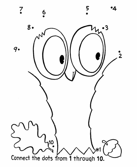 Dot To Dot Coloring Activity Pages
