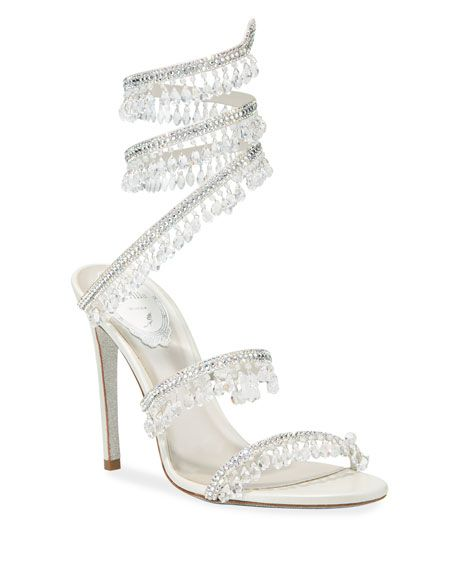 Rene Caovilla Chandelier Snake Beaded Crystal Ankle Wrap Sandals Crystal Sandals Footwear Design Women Ankle Wrap Sandals How to identify a venomous snake. pinterest