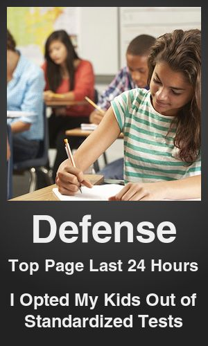 Top Defense link on telezkope.com. With a score of 956. --- I Opted My Kids Out of Standardized Tests. --- #defense --- Brought to you by telezkope.com - socially ranked goodness