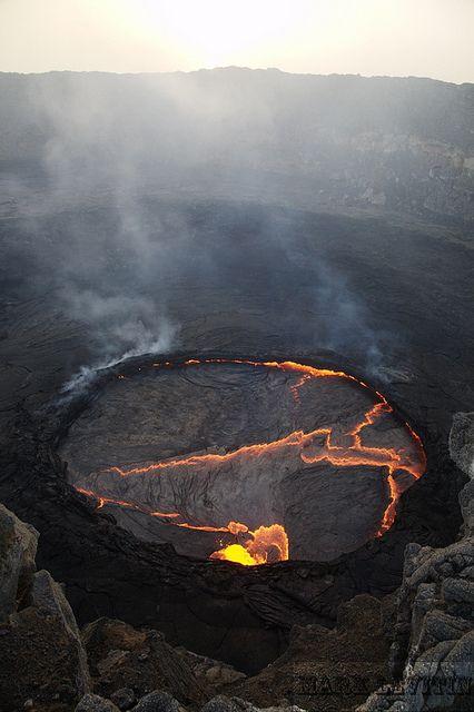 Lago de lava del volcán Erta Ale Danakil, Etiopía