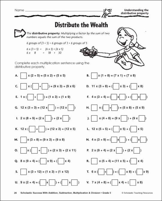 Math Worksheet Distributive Property Distributive Property Of Multiplication Distributive Property Properties Of Multiplication Distributive property worksheets