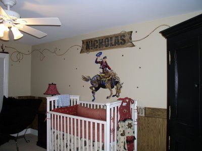 Cowboy decor for boys room bedrooms cowboy theme boys for Cowboy themed bedroom ideas
