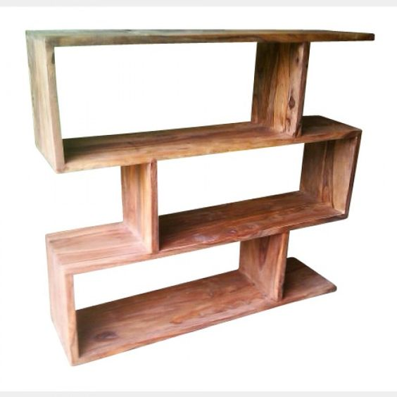 Bookcases natural and furniture on pinterest - Nordic style furniture ...