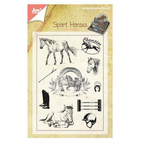 Tampon Joy Crafts Scrapbooking Motif Dessin Cheval Animaux Equitation