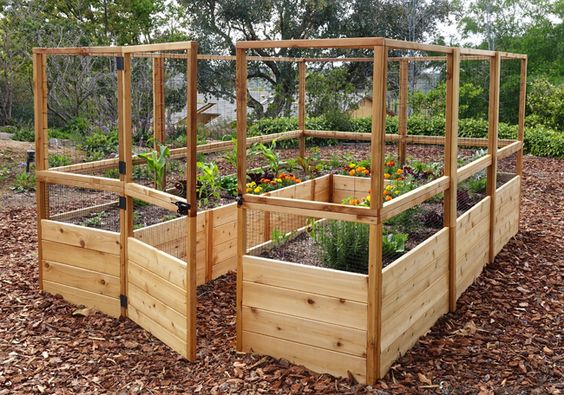A great garden fencing ideas with raised beds