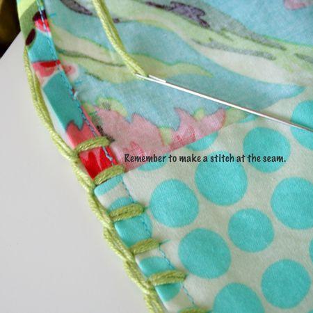 blanket stitch tut for crocheted border