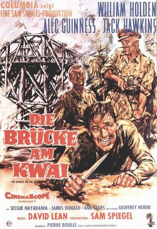 The Bridge On The River Kwai 1957 An Illustrated Reference Movie Posters River Western Movie