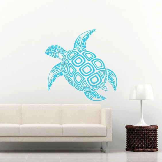 wall decal family art bedroom decor sea turtle wall decal ocean sea animals decals wall vinyl sticker interior home decor family art